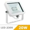 - Design LED reflektor Tini (fényes fehér) - 20 Watt meleg fehér