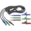 Cliff Biztonsági mérővezeték készlet [ dugó 4 mm - melegkészülék dugó] 1.5 m kék, zöld, barna Cliff CIH29923
