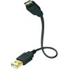 Inakustik Számítógép Csatlakozókábel [1x USB 2.0 dugó A - 1x ] 3 m Fekete Inakustik