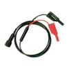 Testec BNC mérővezeték [ BNC dugó - dugó] 1 m Fekete, Piros Testec 8076-50-100-S