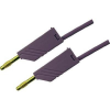 Mérővezeték [ lamellás dugó 4 mm - lamellás dugó 4 mm] 1 m lila SKS Hirschmann MLN 100/2,5 Au lila