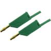 Mérővezeték [ lamellás dugó 4 mm - lamellás dugó 4 mm] 1 m zöld SKS Hirschmann MLN 100/2,5 Au gruen