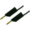 Mérővezeték [ lamellás dugó 4 mm - lamellás dugó 4 mm] 2 m fekete SKS Hirschmann MLN 200/2,5 Au fekete