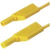 Biztonsági mérővezeték [ lamellás dugó 4 mm - lamellás dugó 4 mm] 0.5 m sárga SKS Hirschmann MLS WS 50/1 ge