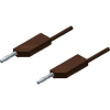 Mérővezeték [ lamellás dugó 4 mm - lamellás dugó 4 mm] 0.25 m barna SKS Hirschmann MLN 25/2,5 barna