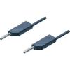 Mérővezeték [ lamellás dugó 4 mm - lamellás dugó 4 mm] 0.25 m szürke SKS Hirschmann MLN 25/2,5 szürke