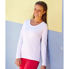 Fruit of the Loom FoL Lady-Fit Valueweight Long Sleeve T, fehér