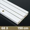 Fa betétes műanyag karnis (GE3) - 3 soros - 150 cm