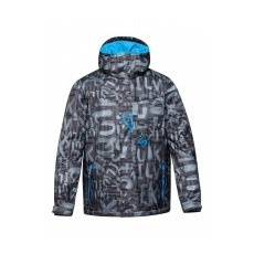 Quiksilver Mission Printed Insulated Jacket Snowboard kabát, Fekete/Szürke, M