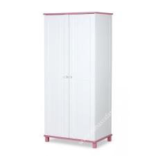 Klups Porto kétajtós szekrény - fehér/rózsaszín kiságy, babaágy