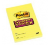 Öntapadó jegyzettömb, 76x127 mm, 90 lap, 3M POSTIT Super Sticky, pipacs jegyzettömb