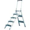 KRAUSE - Összecsukható lépcső lehajtható kapaszkodókerettel 4 fokos