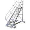 KRAUSE - Ipari lépcső dobogóval, gurítható 800mm 60° 14 fokos