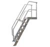 KRAUSE - Ipari lépcső dobogóval 1000mm 60° bordázott alu fokkal 12 fokos létra és állvány