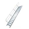 KRAUSE - Ipari lépcső 600mm 45° bordázott alu fokkal 17 fokos