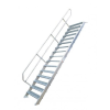 KRAUSE - Ipari lépcső 600mm 45° bordázott alu fokkal 11 fokos