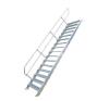 KRAUSE - Ipari lépcső 600mm 45° bordázott alu fokkal 11 fokos létra és állvány