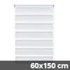 Easy fix doppel roló, fehér, ablakra: 60x150 cm
