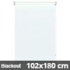 Blackout roló, fehér, ablakra: 102x180 cm