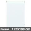 Blackout roló, fehér, ablakra: 122x180 cm