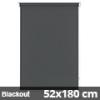 Blackout roló, szürke, ablakra: 52x180 cm