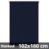 Blackout roló, sötétkék, ablakra: 102x180 cm
