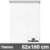 Hőszigetelő roló, Thermo, fehér csíkos, ablakra: 82x180 cm