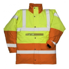 Portwest S466 Kontraszt Traffic kabát (SÁRGA/NARANCS XL)