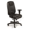 MAYAH Főnöki szék, szinkronmechanikával, fekete bonded bőrborítás, fekete lábkereszt, MAYAH Grand Chief (BBSZVV25)