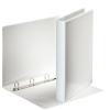 ESSELTE Gyűrűs könyv, panorámás, 4 gyűrű, D alakú, 35 mm, A4, PP/PP, , fehér