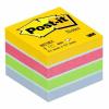 3M POSTIT Öntapadó jegyzettömb, 51x51 mm, 400 lap, bliszteres, , ultra színek