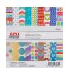 APLI Mintás kartonpapír Scrapbooking-hoz, 15,25 x 16,25, ,