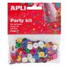 APLI Konfetti, metál, 11 mm, lyukasztott kör, , vegyes színek