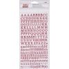 APLI Matrica, ABC, csillogó, , piros