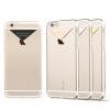 USAMS Apple iPhone 6 USAMS Dazzle műanyag hátlap, tok fém felirattal, arany