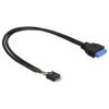 DELOCK Cable USB 3.0 pin header female > USB 2.0 pin header male 83095
