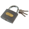 Extol Lakat, vas, 3 kulccsal, dobozban ; 63mm (Lakat)