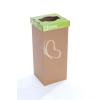 """ÖKUKA Szelektív hulladékgyűjtő, újrahasznosított, 60 l, RECOBIN """"Slim"""", zöld"""