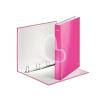 """Leitz Gyűrűs könyv, 4 gyűrű, D alakú, 40 mm, A4 Maxi, karton, lakkfényű, LEITZ """"Wow"""", rózsaszín"""