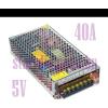 Hálózati LED tápegység, 200W, 40A, 5V, LED trafó, LED adapter, fém ház