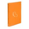 "VIQUEL Gyűrűs dosszié, 4 gyűrű, 25 mm, A4, PP, VIQUEL ""Propyglass"", narancssárga"