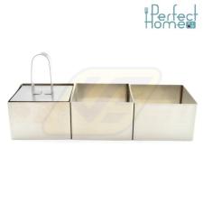 Perfect home 12175 Ételformázó szett szögletes 4 részes konyhai eszköz