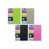 MQ Spirálfüzet MQ 4 Notebook A/4-4x25 lapos négyzetrácsos, PP, 47770-71-72-73