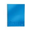 Leitz Spirálfüzet WOW, A4, kockás, kék