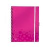 Leitz Spirálfüzet WOW Active, A4, vonalas, rózsaszín