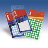 APLI Etikett, 8 mm kör, kézzel írható, színes, , neon piros, 288 etikett/csomag