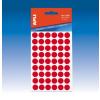 APLI Etikett, 8 mm kör, kézzel írható, színes, , piros, 288 etikett/csomag