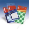 APLI Etikett, 8 mm kör, kézzel írható, színes, APLI, neon zöld, 288 etikett/csomag (LCA2082)