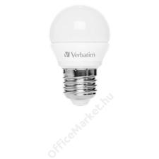 Verbatim LED izzó, E27, mini gömb, 250lm, 3,5W, 2700K, meleg fény, VERBATIM (VLED614) izzó