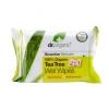 dr.Organic Nedves törlőkendő bio teafaolajjal 20 db